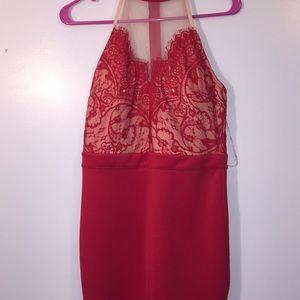 Trixxi tight red dress